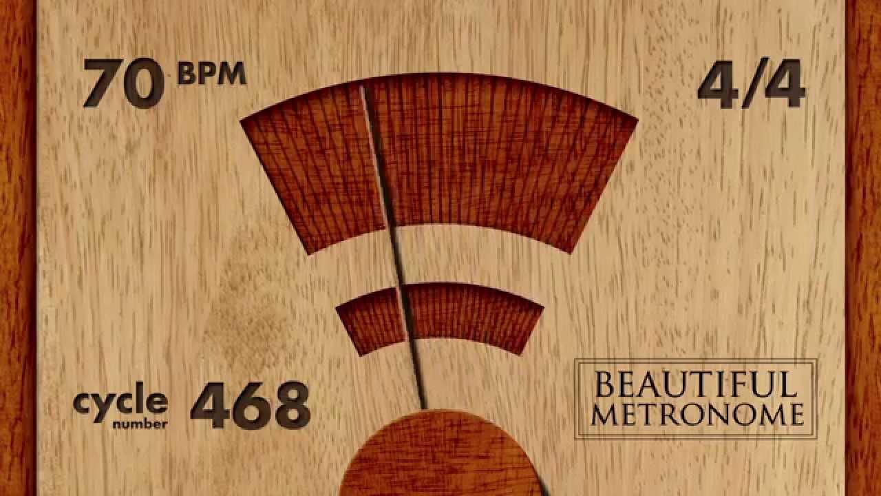 70 BPM 4/4 Wood Metronome HD