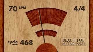70 BPM 4/4 Wood Metronome HD