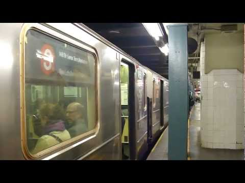 IRT 7th Ave Line: R62 3 Train & R142 2 Trains at Wall St-William St