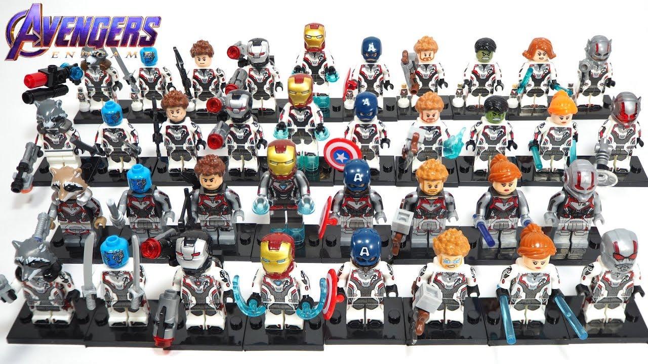 Avengers Endgame Unofficial Lego Minifigures Comparison Youtube