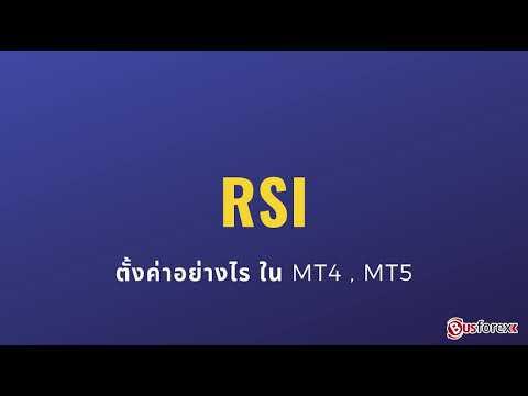 RSI คือ RSI ใช้อย่างไร ตั้งค่า RSI ใน MT4 Forex