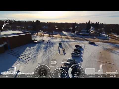 Bebop 2 Power Drone flight over St. Albert