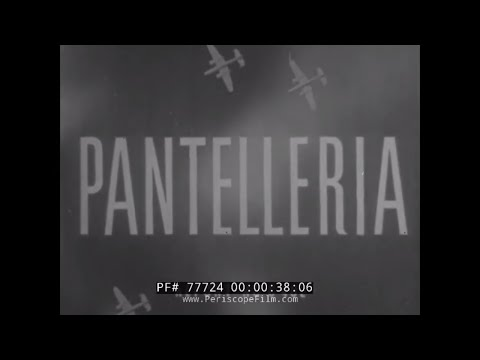 WWII ARMY AIR FORCES RESTRICTED FILM RAID ON PANTELLERIA OPERATION CORKSCREW 77724
