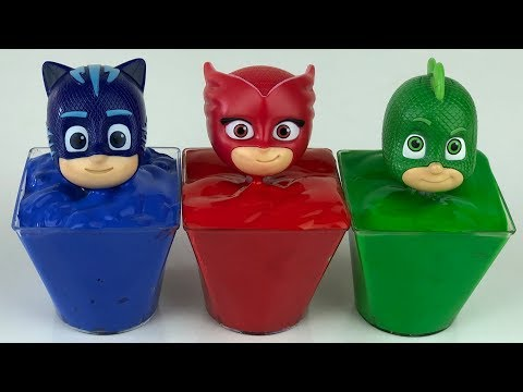Learn Colors With Wrong Heads Of Pj Masks Toys