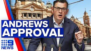 Majority of Victorians support Daniel Andrews amid pandemic | 9 News Australia