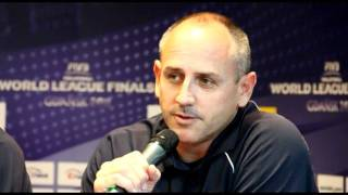 FIVB Volleyball World League official press conference - coaches