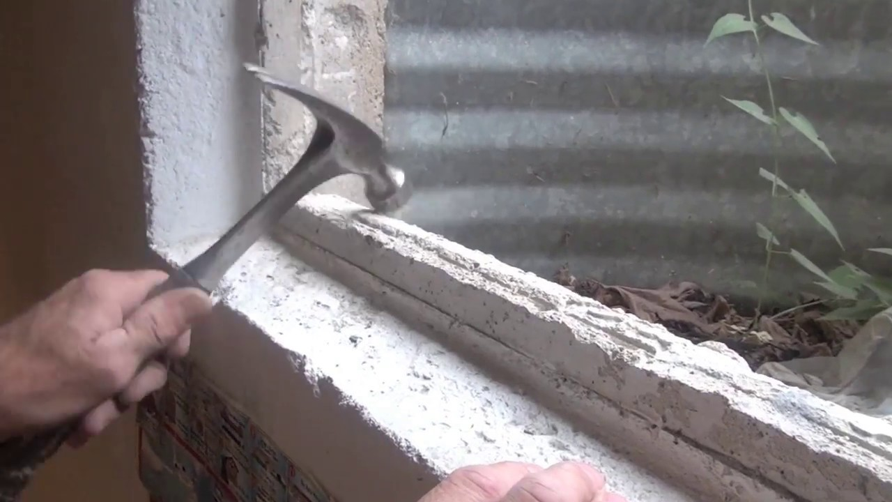 How To Replace A Basement Window In Concrete Youtube