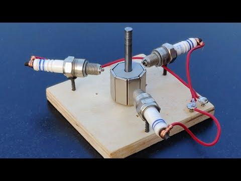 Neodymium Magnetic Free Energy Generator Using Sparkplug