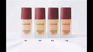 How To Choose LAKME Invisible Finish Foundation Shade Beauty Express