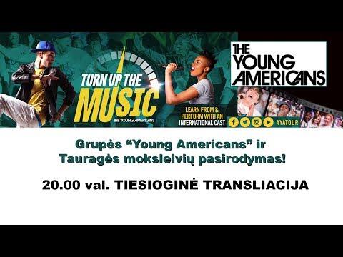 """TVK tiesiogiai. Tauragės regiono vaikų ir grupės """"The Young Americans"""" šou"""