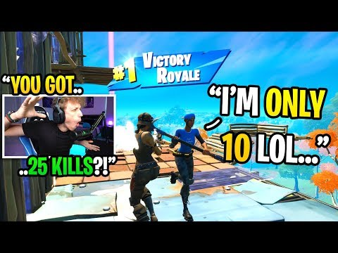 This 10 year old kid got 25 KILLS in his highest kill game in Fortnite... (shocking)