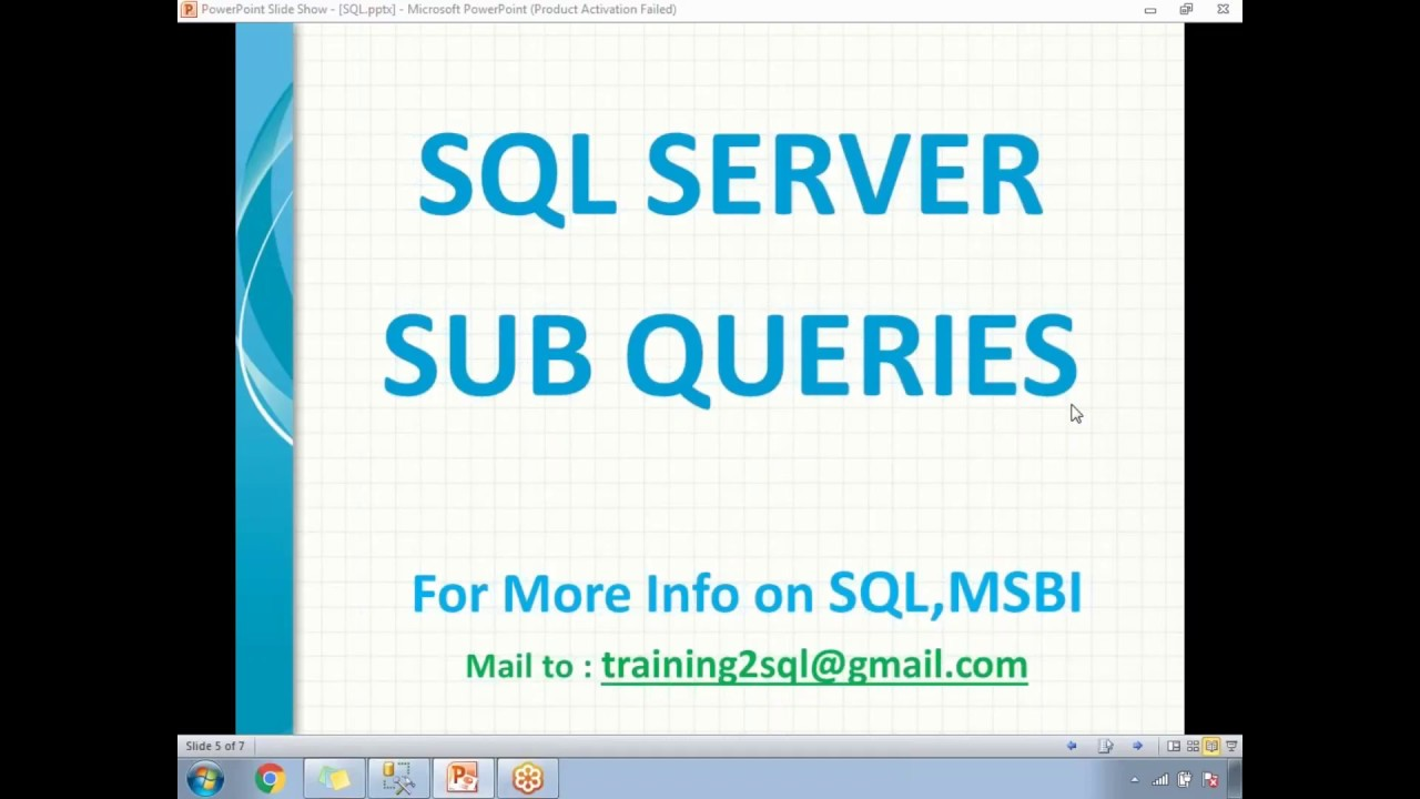 SQL Subqueries | SQL Nested query | How to write SQL Sub