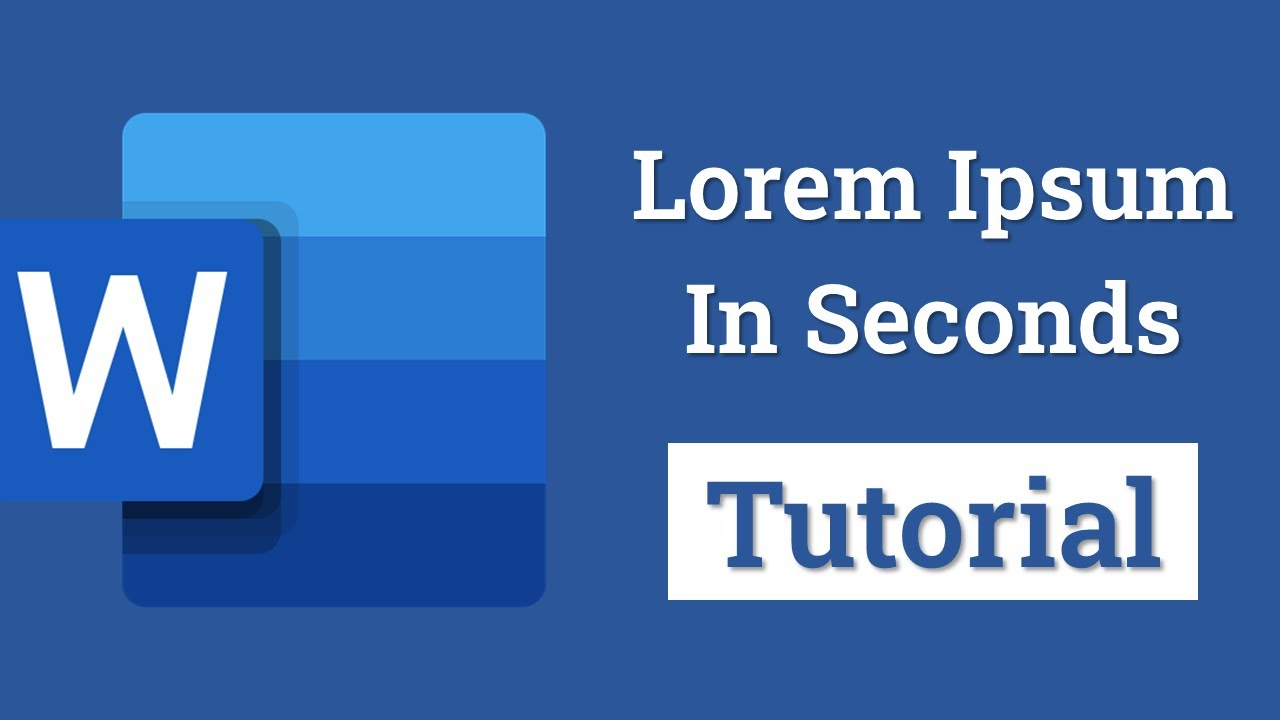 MS Word Trick : Quickly add Lorem Ipsum to Your Document