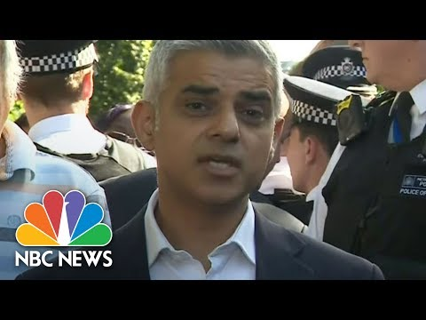 Thumbnail: Angry Locals Interrupt London Mayor Sadiq Khan At Scene Of High-Rise Fire | NBC News