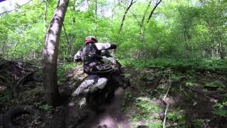 2015-05-10 Brian's Trails YZ250 YZ250F Play riding woods creek hillclimb mud