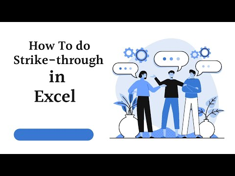 How To Do A Strikethrough In Excel