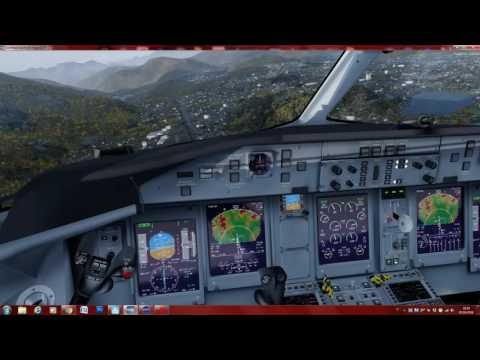 P3D V3 Dash 8 Q400 circle to land and takeoff LSZA RWY 19