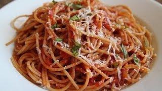 Spaghetti Recipe- Indian Style Pasta Recipe-spaghetti avec sauce recette