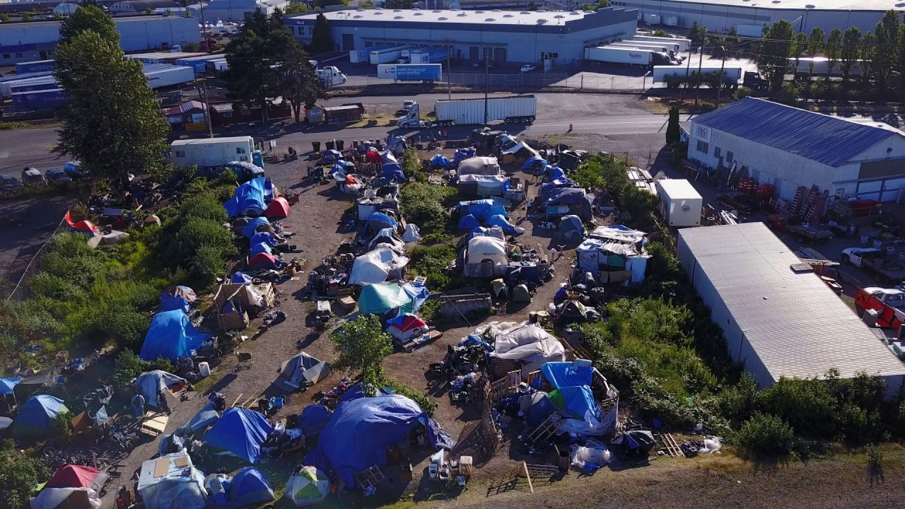 Several homeless camps around East Tacoma, and the ...