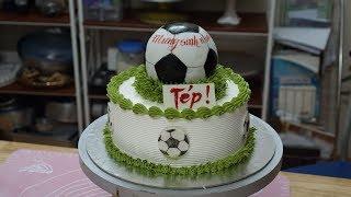 Bánh Sinh Nhật Trang Trí Tạo Hình Quả Bóng Độc Đáo - How To Make  a Football on the Cake