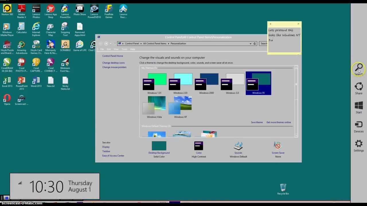 Making your Windows 8 looks like