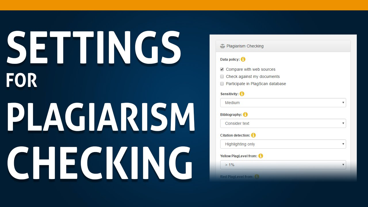 how to customize settings for the plagiarism check  04 how to customize settings for the plagiarism check