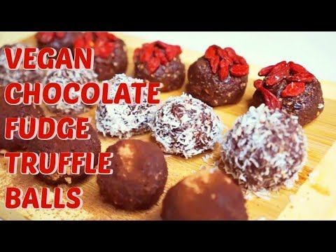 Raw Vegan Chocolate Fudge Truffle Balls Recipe - Valentines Day Bon Bons | Gluten - Free & No Bake