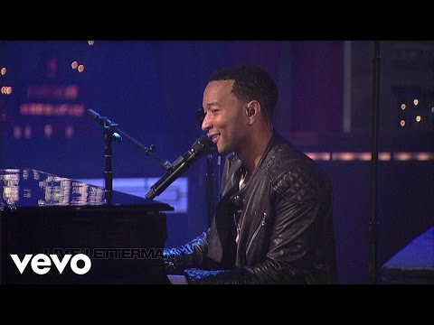 John Legend - P.D.A. (We Just Don't Care) (Live on Letterman)