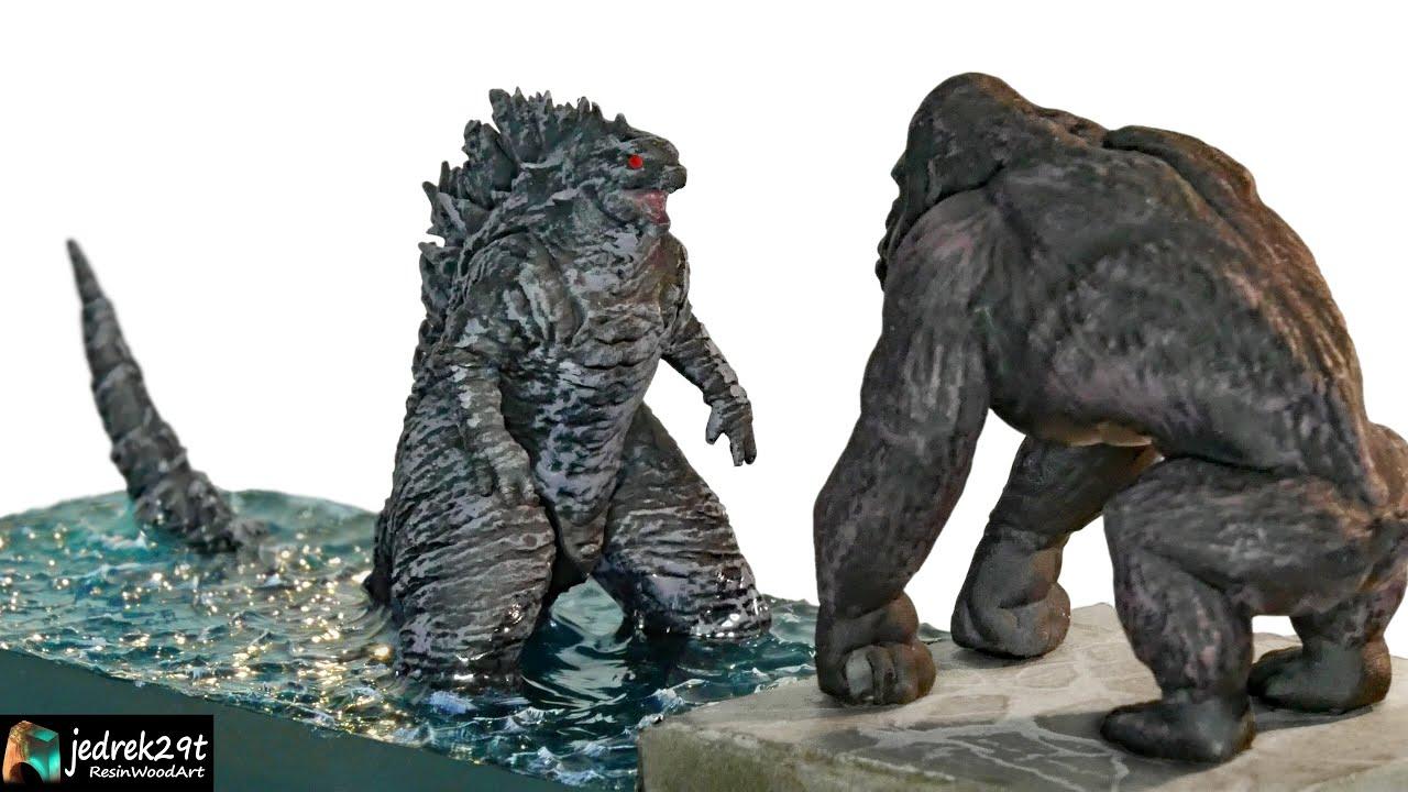 Godzilla vs. Kong / Diorama / RESIN ART