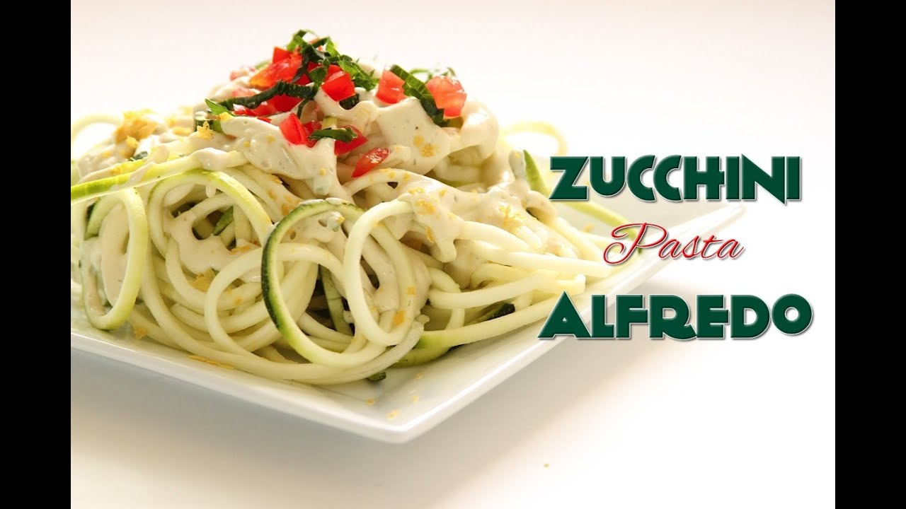 Raw vegan zucchini pasta alfredo recipe youtube forumfinder Images