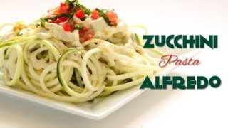 Raw Vegan Zucchini Pasta Alfredo Recipe