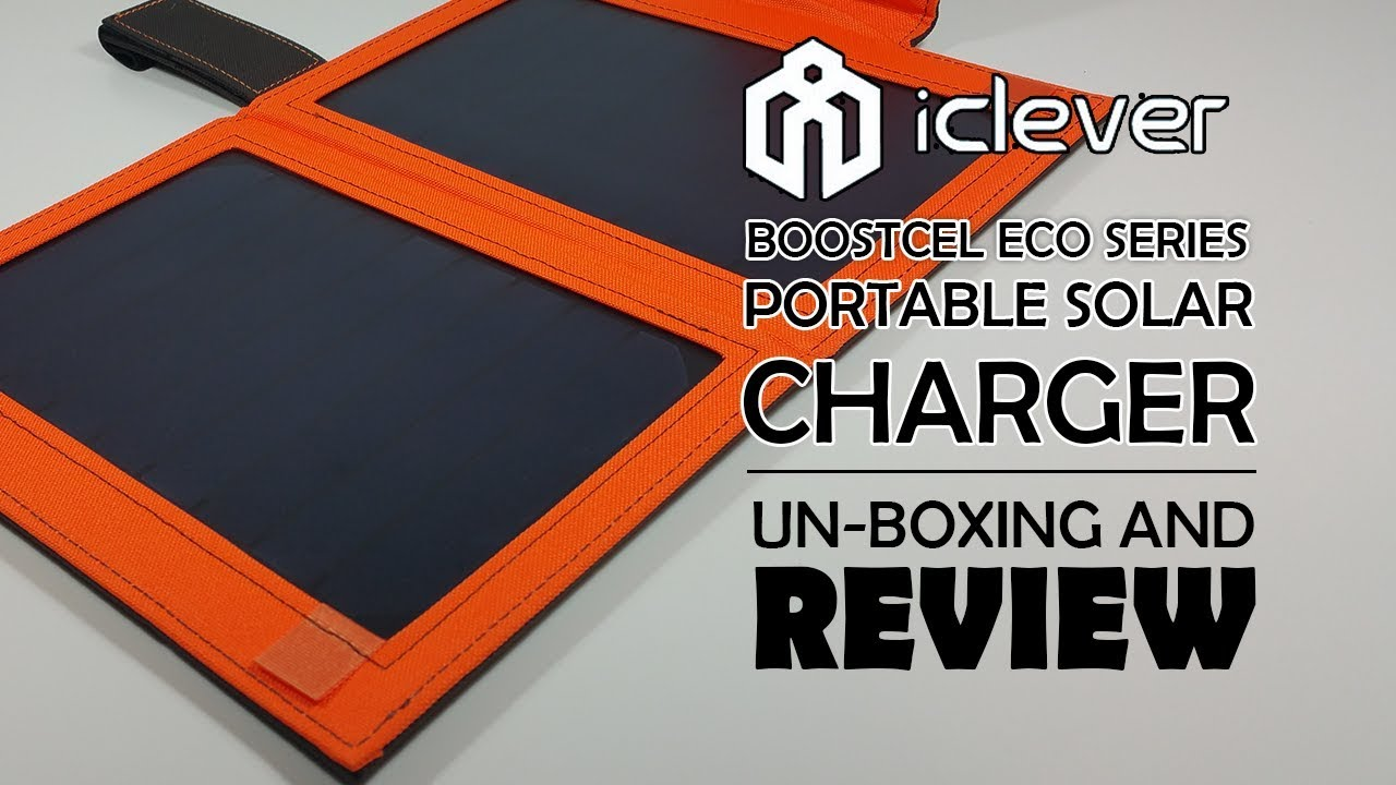 iClever 12W Solar Charger with Built in Battery IC-SB11Y - Unboxing And  Review