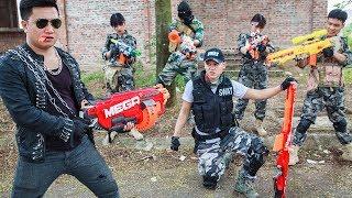 LTT Nerf War : SEAL X Warriors Nerf Guns Fight Criminal Group Dr Lee Camouflage Grass