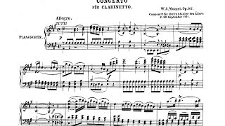 Mozart Concerto arr. for Clarinet and Piano k.v. 622