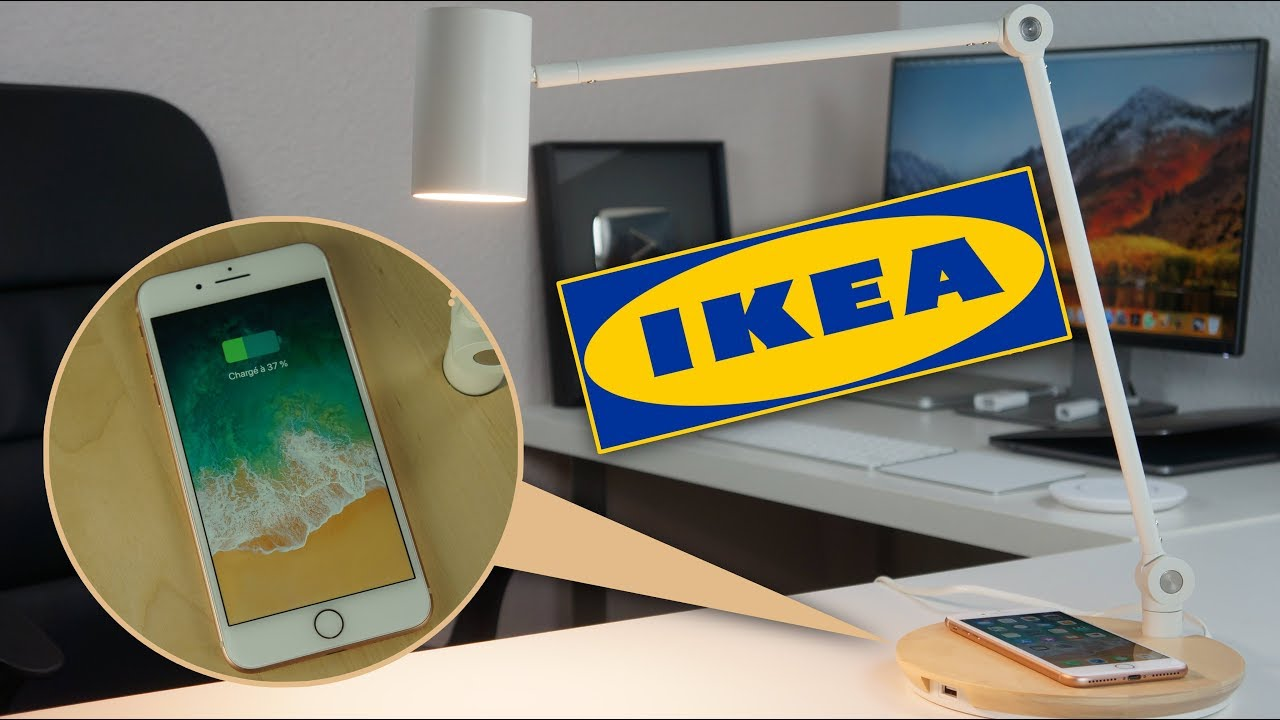 charger un iphone 8 avec une lampe ikea youtube. Black Bedroom Furniture Sets. Home Design Ideas