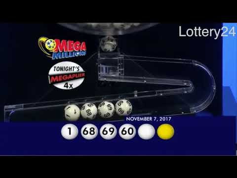 2017 11 07 Mega Millions Numbers and draw results
