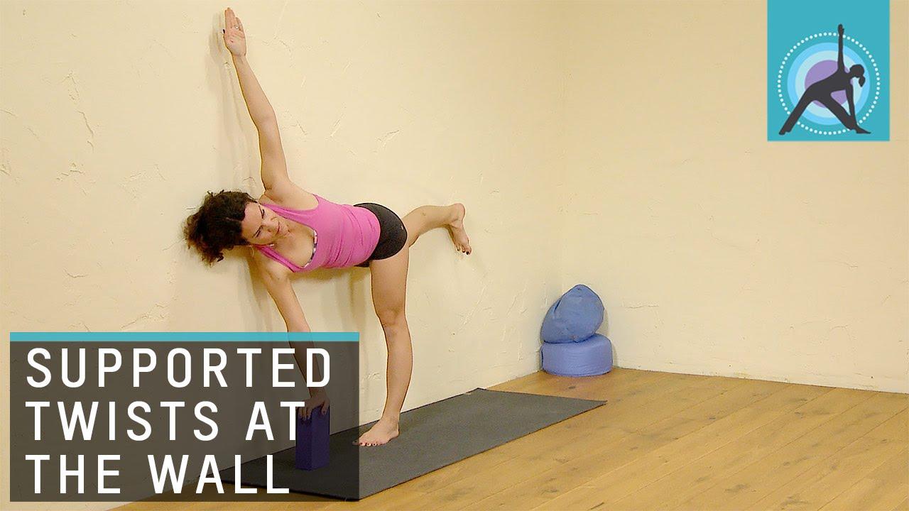 Twisted half Moon pose, Yoga with Adela Serrano - YouTube