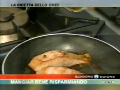 Trancio di salmone al pepe verde