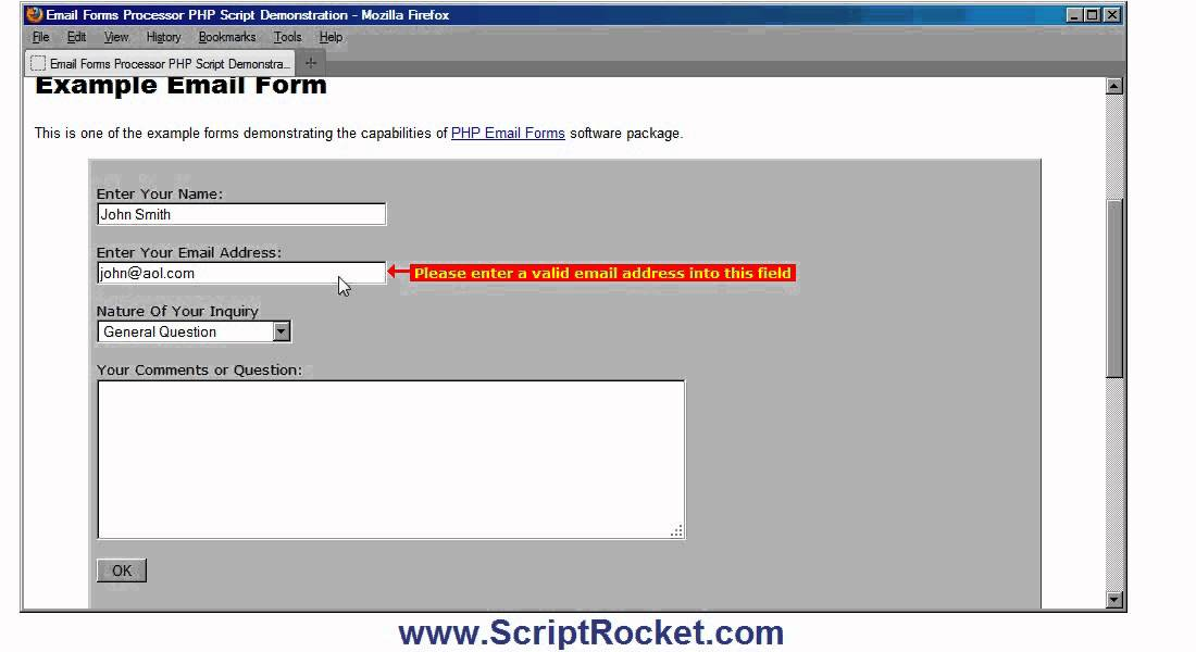 PHP Formmail Script - secure PHP form processor scripts for email ...