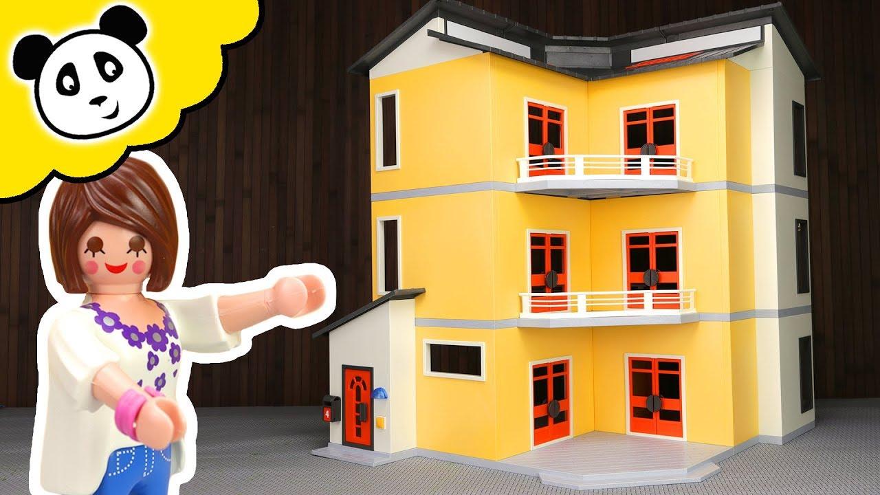 Playmobil Familie Das Neue Grosse Wohnhaus Spielzeug Auspacken