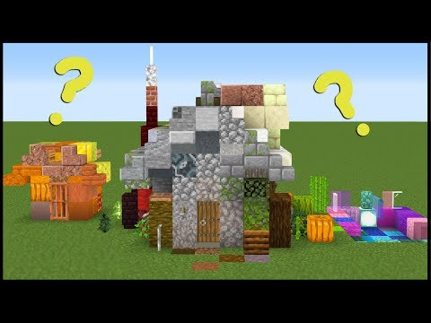I Made a House Using 1 of Every Block in Minecraft