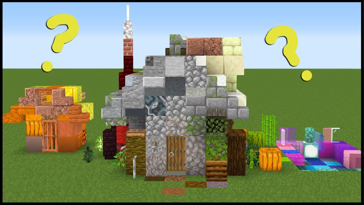 I Made a House Using 1 of Every Block in Minecraft thumbnail