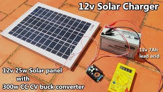 12v Solar Battery Charger With Cc Cv Buck Converter Controller 12v 7ah Lead Acid Power Gen Youtube