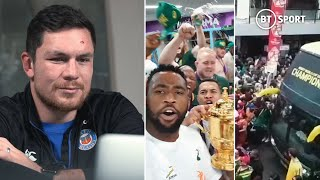 Gambar cover World Cup winner Franois Louw reacts to stunning South Africa celebration scenes!