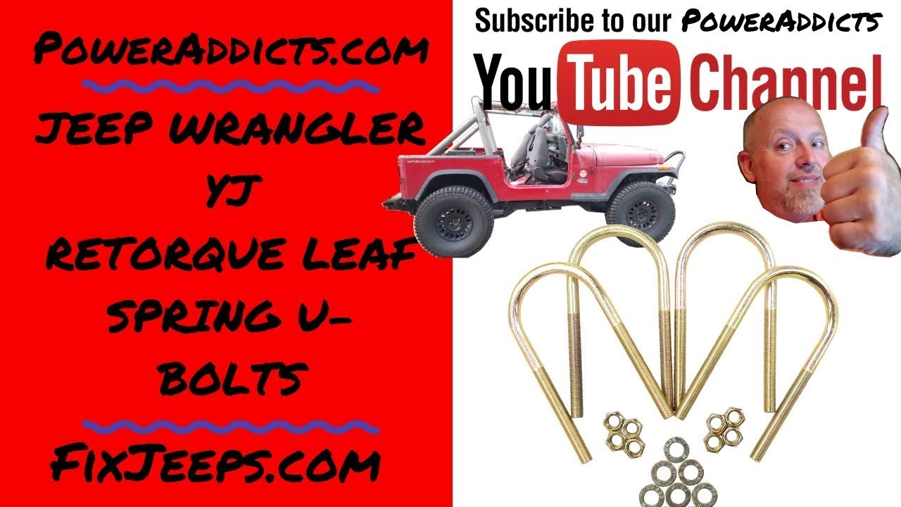 Jeep Wrangler YJ - Check and torque leaf spring u-bolts