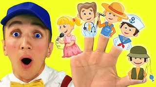 Finger Family Jobs Song for Kids - Super Simple Nursery Rhymes –  Professions Part 6