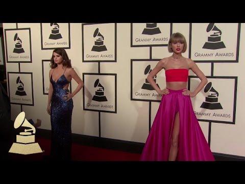 Taylor Swift & Selena Gomez | Fashion Cam | 58th GRAMMYs