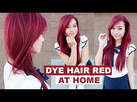 Dying asian hair red
