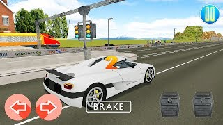 Supercars Sports Car Vs Train High Speed Racing Gameplay | Gadi Wala Game (गाड़ी वाला गेम)