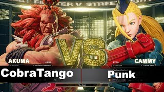 SFV/SF5 AE CobraTango (Akuma) vs Punk (cammy) Ranked match set